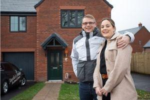 Family of four move into brand new home