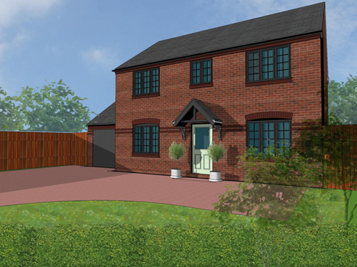 An artists impression of the Wesley house in Snedshill.